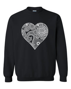 White Heart Bankdana Crewneck Sweater