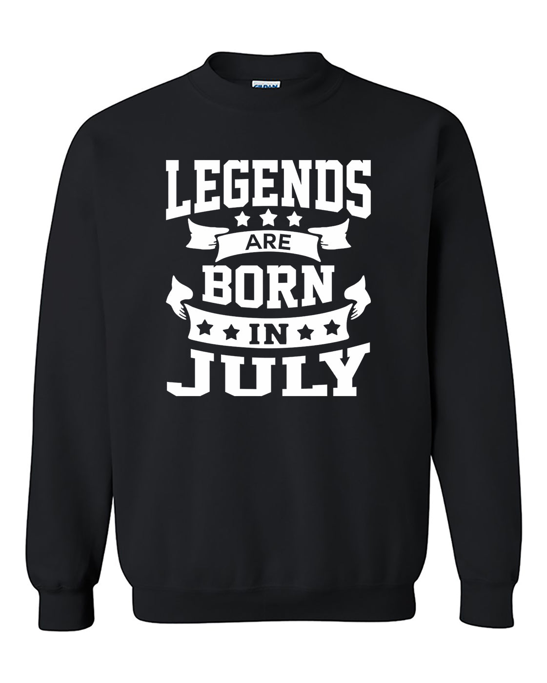 Legends are born in July Crewneck Sweater
