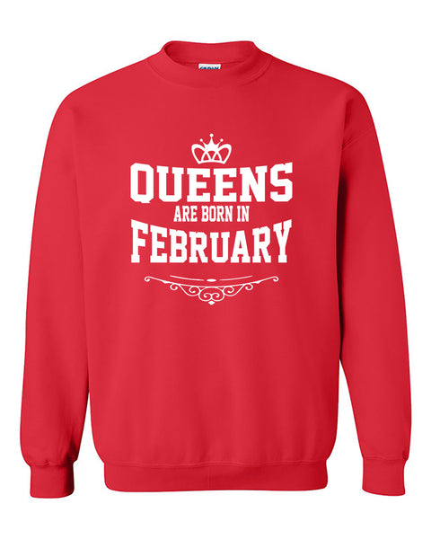 Queens are born in February Crewneck Sweater