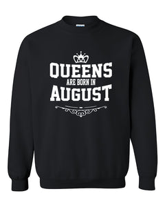 Queens are born in August Crewneck Sweater