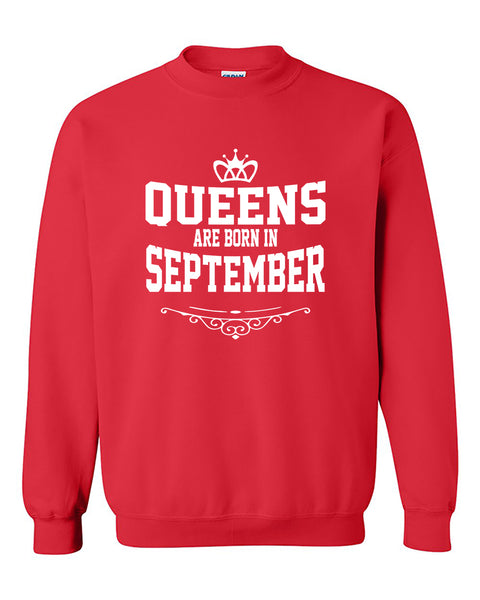 Queens are born in September Crewneck Sweater
