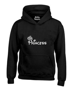 Princess White Crown Couples Matching  Valentine's Day Gift Unisex Hoodie