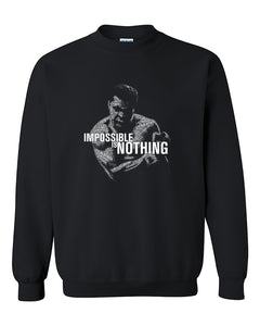 Impossible is Nothing Mohammad Ali Boxing Legend Crewneck Sweater