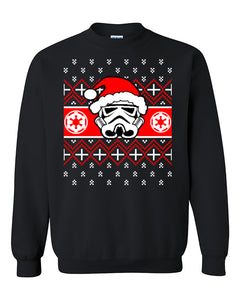 STAR WARS Inspired ugly Christmas Sweater, Xmas Sweater, Christmas party, Holiday gift , Force awakens, Rouge one, STORMTROOPER Santa Crewneck Sweater