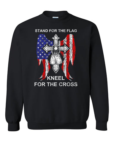 Kneel For The Cross 4th of July Independence day's shirt gift patriotic Crewneck Sweater
