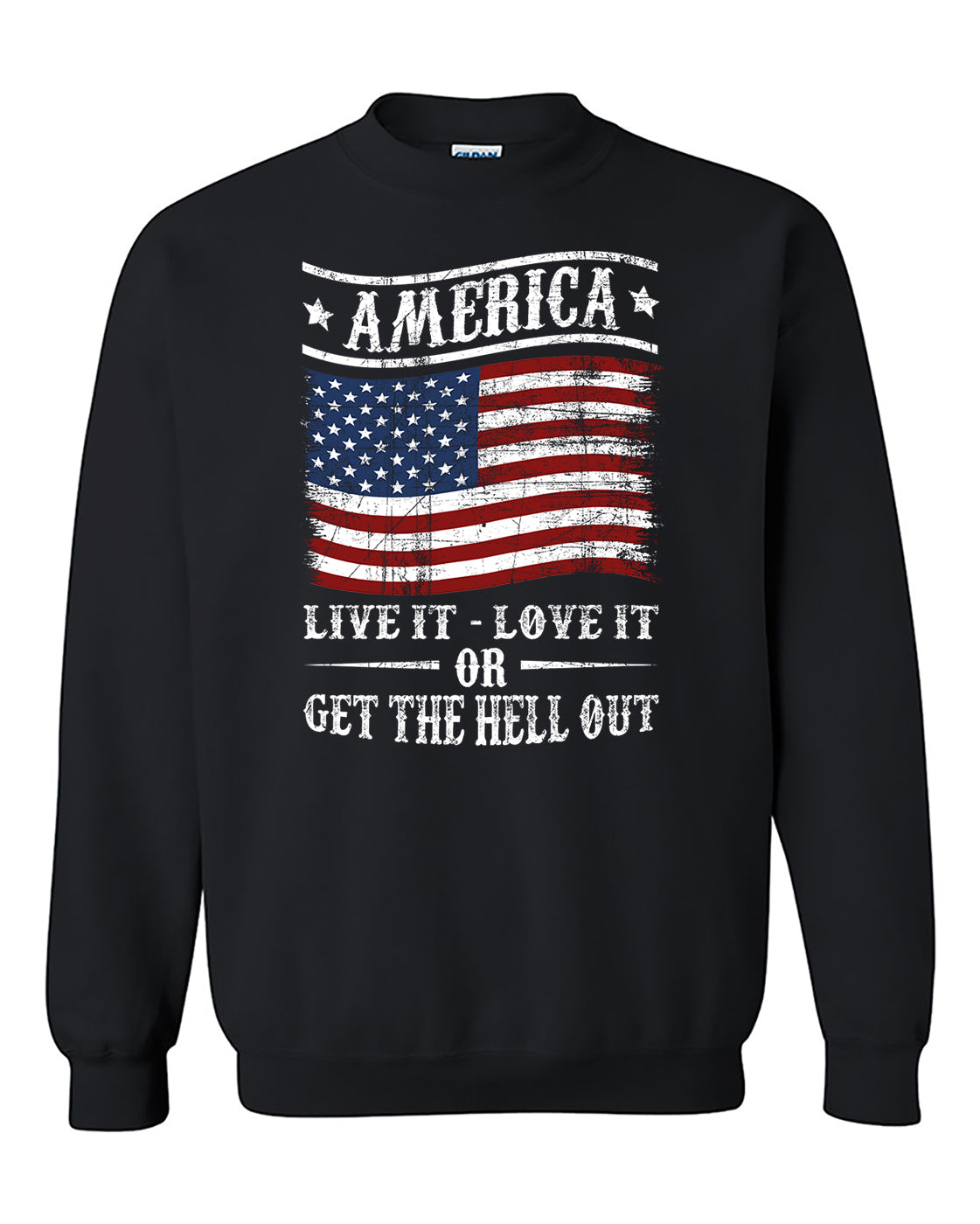 America Live it Love it or Get the Hell Out! 4th of July Independence day's shirt gift patriotic Crewneck Sweater