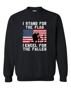 I stand for the flag I kneel for the fallen army 4th of July Independence day's shirt gift patriotic Crewneck Sweater