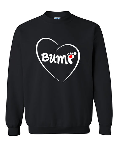 Bump For Moms and Mothers To Be Pregnancy Crewneck Sweater