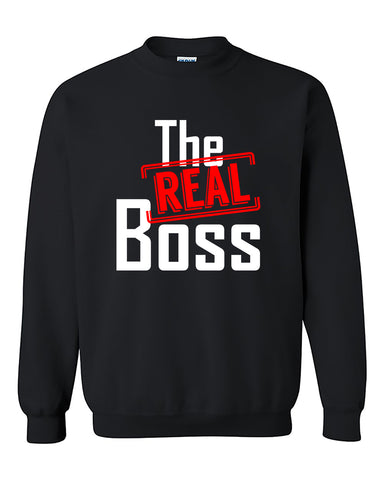 The Real Boss Love Couples Valentine's Day Gift Crewneck Sweater