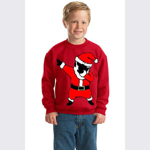 Dab Dance BLACK Santa Christmas Youth Crewneck Sweatshirt