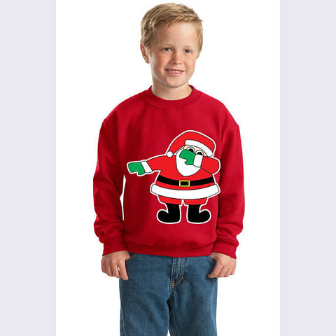 Dab Dance Santa Crewneck Christmas Youth Sweatshirt