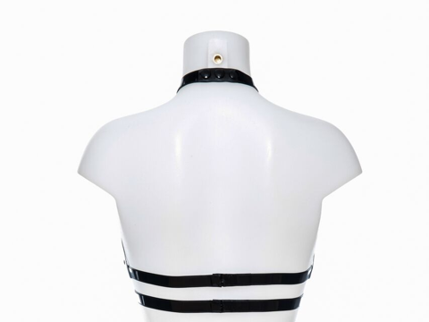 Latex Harness Double Ring
