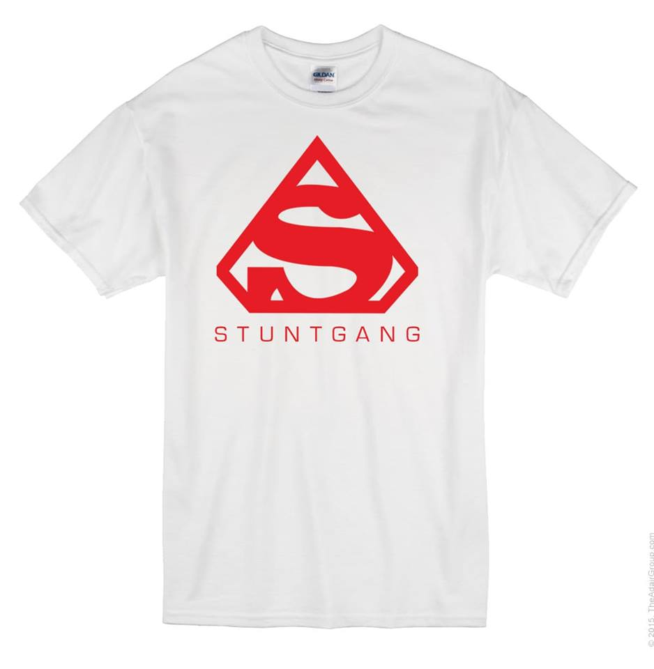 White Stunt Gang Short Sleeve T shirt