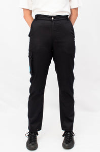 Sophie in studio, front view. Workwear for Women. Hoydens; Tough trousers for tough women.
