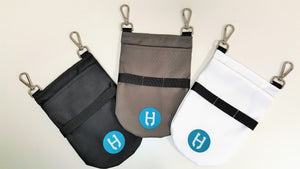 black, grey and white holster pro side pockets