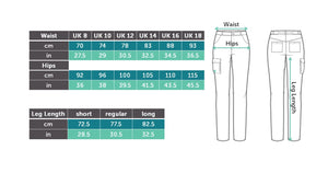 Size Guide. Waist and Hip measurements. Where to measure. Workwear for Women. Hoydens; Tough trousers for tough women.