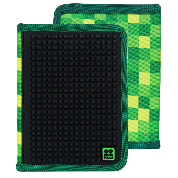 "Green Slots ""Note-Book"" Pencil Case"