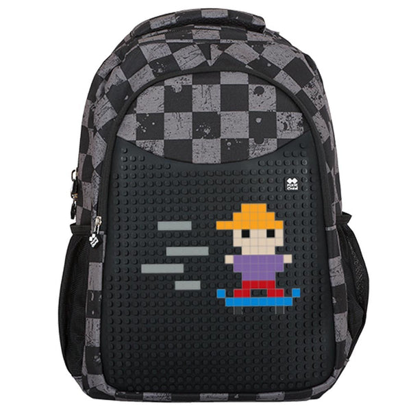 Grey Slots School Bag
