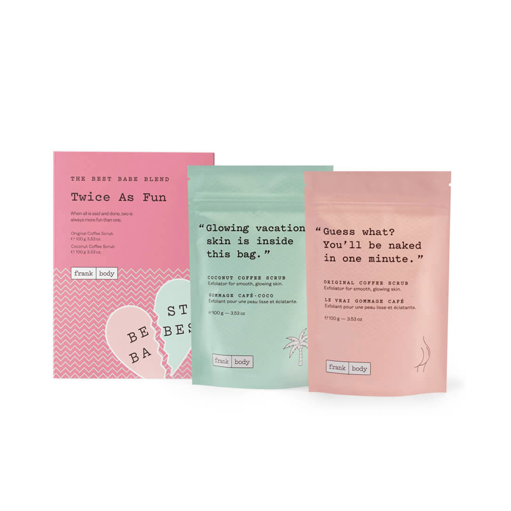 Duo Exfoliantes-Frank Body- Twice as Fun