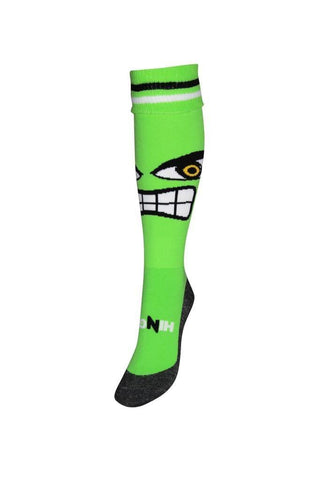 Hingly Hockey Socks Hulk - Hulk face on a green background sock
