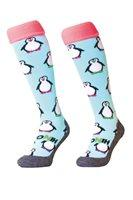 Hingly Hockey Socks Penguin - White penguins on a white sock