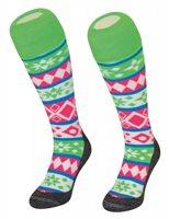 Hingly Hockey Socks Nordic Fluo - Nordic pattern hooped sock