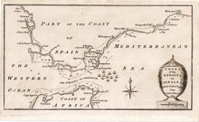 Antique Map, Chart of the Straits of Gibraltar, 1782