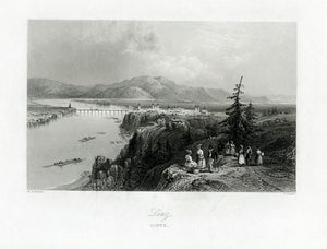 Antique Print, Set of 3: Scenes along the Danube, c.1840