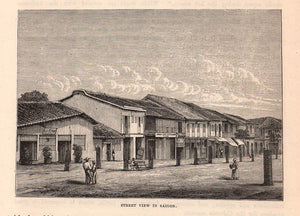 Street View in Saigon, c.1880