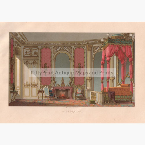 A Bedroom C. 1885 Prints