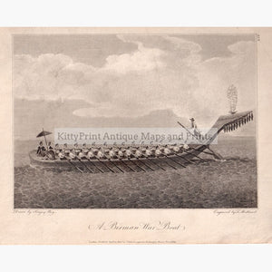 A Birman War Boat 1800 Prints