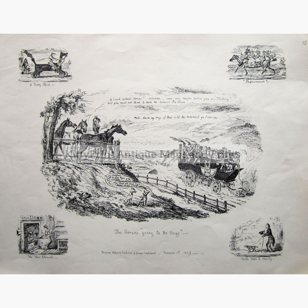 A Horseless Carriage 1829 Prints