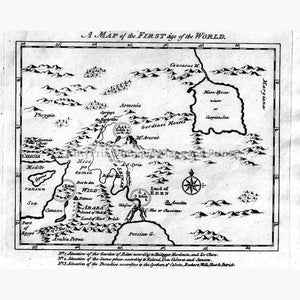 A Map Of The First Age World 1804 Kittyprint Maps