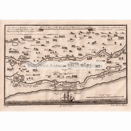 A Map Of The Kingdom Whidah From Marchais 1745 Maps