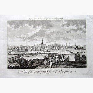 A View of the City of Vienna the capital of Germany,1778 Prints KittyPrint 1700s Austria Townscapes