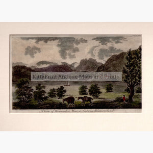 A View of Winander Mere a Lake in Westmoreland 1776 Prints KittyPrint 1700s England England in the 1700s Genre Scenes Landscapes