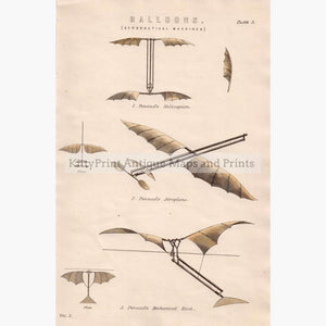 Aeronautical Machines Balloons 1881 Prints