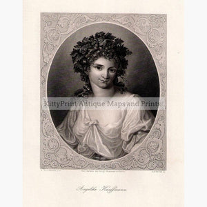 Angelika Kauffmann c.1860 Prints KittyPrint 1800s Portraits