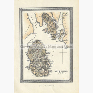 Antique Map Buteshire 1856 Maps