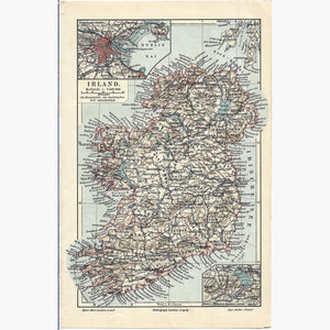 Antique Map Irland 1905 Maps