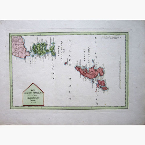 Antique Map. Islands of Shetland and Orkney 1789 Maps