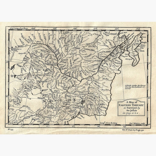 Antique Map of Eastern Tartary 1746 Maps