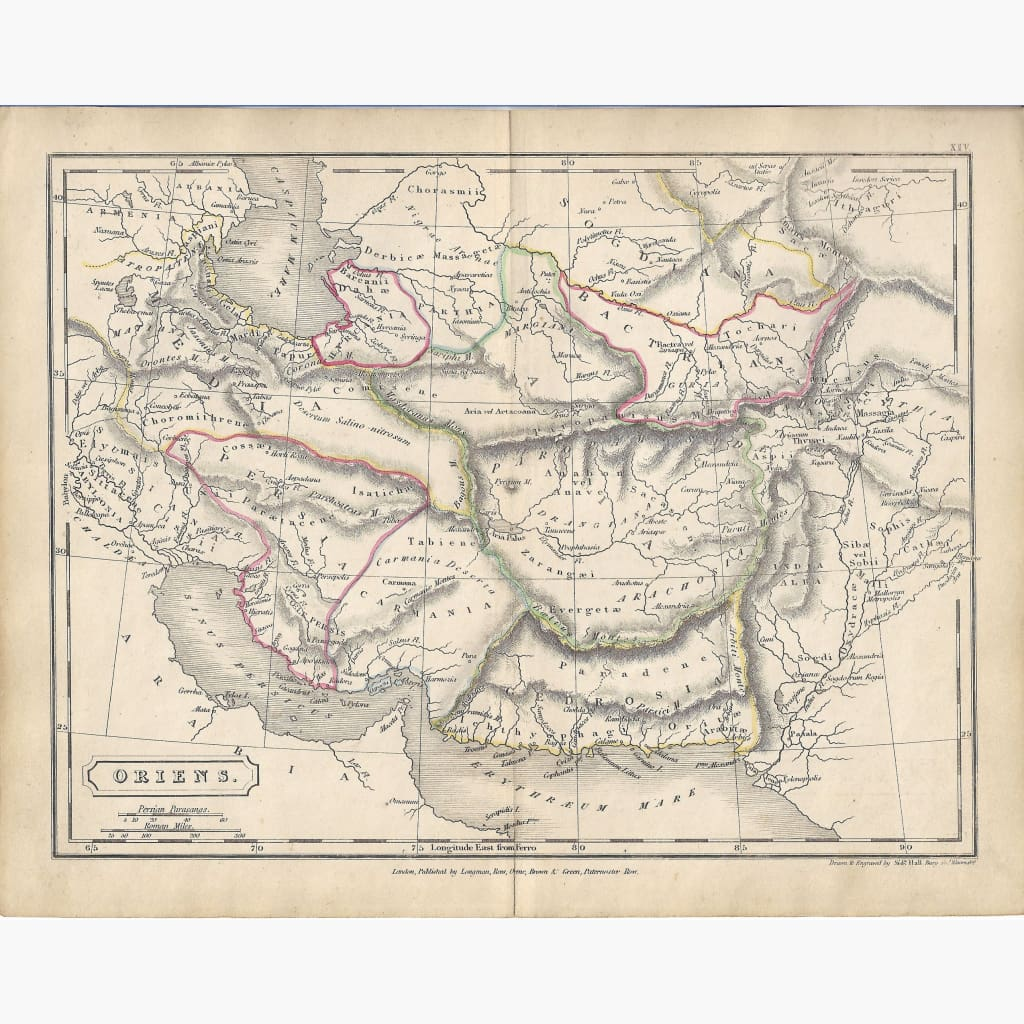 Antique Map Oriens 1860 Maps