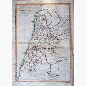 Antique Map Phaenicia 1787 Maps
