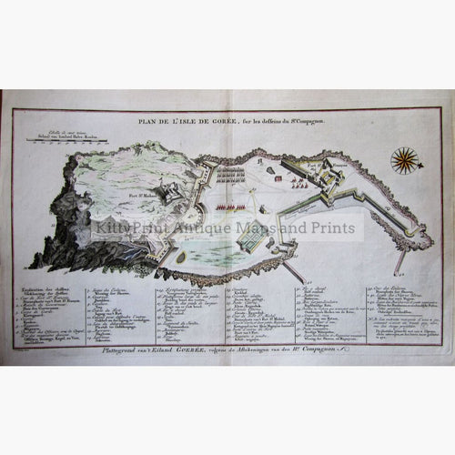 Antique Map Plan De Lisle De Goree 1747 Maps