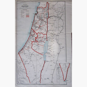 Antique Map Sketch Map of Palestine 1932 Maps