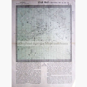 Antique Map Star Map No.3 1884 Prints