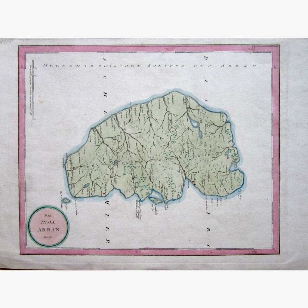 Antique Map The Island Of Arran 1789 Maps