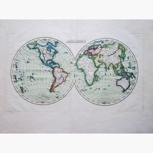 Antique Map World Map Mappe-Monde C.1800 Maps