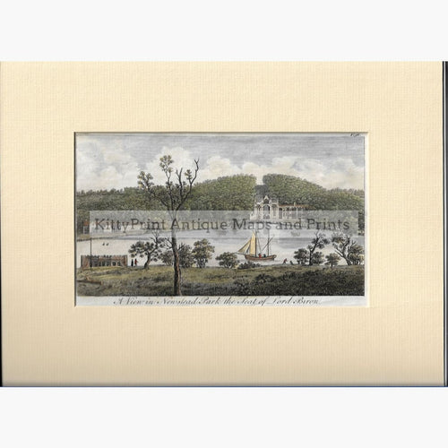 Antique Print A View in Newstead Parkthe seat of Lord Byron 1776 Prints
